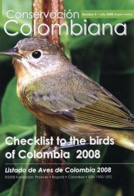 Checklist to the Birds of Colombia 2008 / Listado de Aves de Colombia 2008
