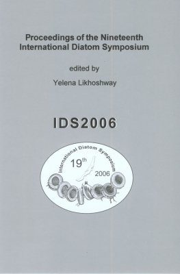 Proceedings of the Nineteenth International Diatom Symposium