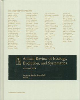 Annual Review of Ecology, Evolution, and Systematics, Volume 40