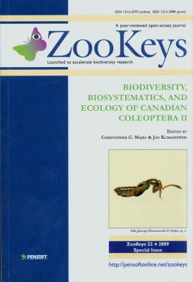 ZooKeys 22: Biodiversity, Biosystematics, and Ecology of Canadian Coleoptera II