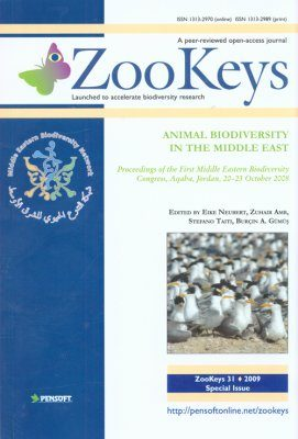 ZooKeys 31: Animal Biodiversity in the Middle East. Proceedings of the First Middle Eastern Biodiversity Congress, Aqaba, Jordan, 20-23 October 2008