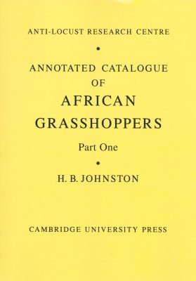 Annotated Catalogue of African Grasshoppers (2-Volume Set)