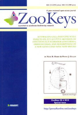 ZooKeys 58: Australian Gall-inducing Scale Insects on Eucalyptus: Revision of Opisthoscelis Schrader (Coccoidea, Eriococcidae) and descriptions of a new genus and nine new species
