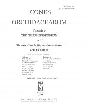 Icones Orchidacearum, Fascicle 9