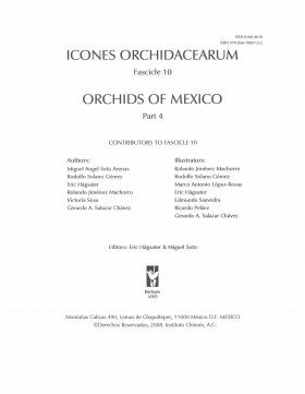 Icones Orchidacearum, Fascicle 10