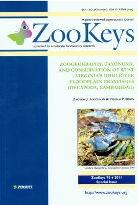 ZooKeys 74: Zoogeography, Taxonomy, and Conservation of West Virginia's Ohio River Floodplain Crayfishes (Decapoda, Cambaridae)