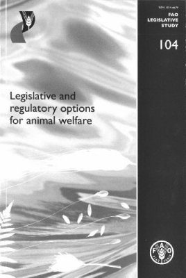 Legislative and Regulatory Options for Animal Welfare