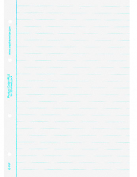 A5 Waterproof Paper Ringbinder Refill