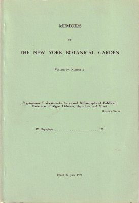 Memoirs of the New York Botanical Garden Volume 19, Number 2