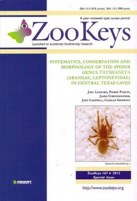 ZooKeys 167: Systematics, conservation and morphology of the spider genus Tayshaneta (Araneae, Leptonetidae) in Central Texas Caves