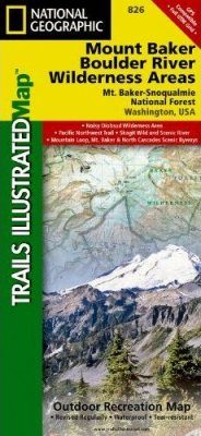 Washington State: Map for Mount Baker & Boulder River Wilderness Areas, Mount Baker-Snoqualmie National Forest