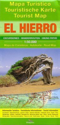 El Hierro: Tourist Map - Hiking Paths - Road Map - Tourist Information [English / German / Spanish]