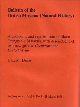 Bulletin of the British Museum (Zoology), Vol. 34, No. 5