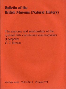 Bulletin of the British Museum (Zoology), Vol. 34, No. 1