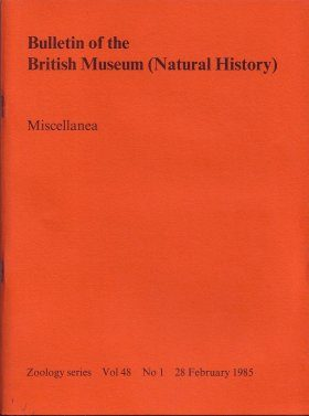 Bulletin of the British Museum (Zoology), Vol. 48, No. 1