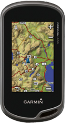 Garmin Oregon 650 with 1:50k GB Discoverer Mapping Software