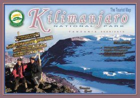 The Tourist Map of Kilimanjaro National Park, Tanzania 2009/2010
