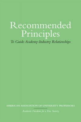 Recommended Principles to Guide Academy-Industry Relationships