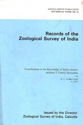Contribution to the Knowledge of Indian Marine Molluscs, Volume 2: Family Donacidae