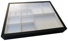 Storage Box with Glass Lid and Carton Inserts