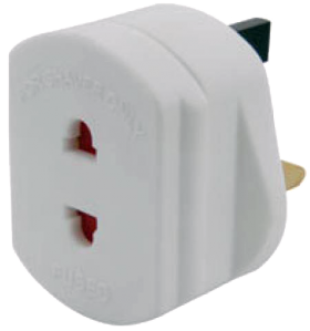 European to UK Mains Plug Adapter
