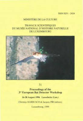 Ferrantia, Volume 31: Proceedings of the 3rd European Bat Detector Workshop