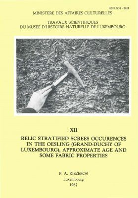 Ferrantia, Volume 12: Relic Stratified Screes Occurrences in the Oesling (Grand-Duchy of Luxembourg), Approximate Age and Some Fabric Properties