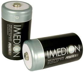 Imedion Rechargeable D-cell Batteries (9,500mAh): Pack of 2