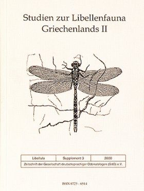 Libellula Supplement 3: Studien zur Libellenfauna Griechenlands, 2