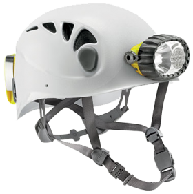 Petzl Spelios Caving Helmet with Hybrid Lighting