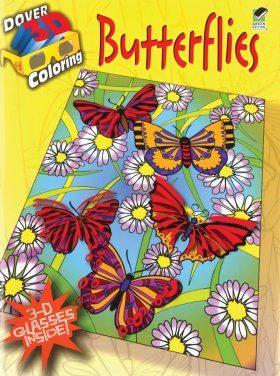 Butterflies (Dover 3-D Coloring Book)