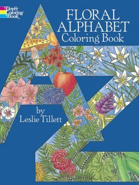 Floral Alphabet Colouring Book