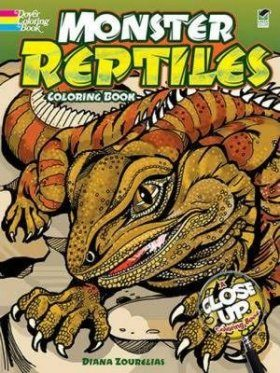Monster Reptiles Coloring Book