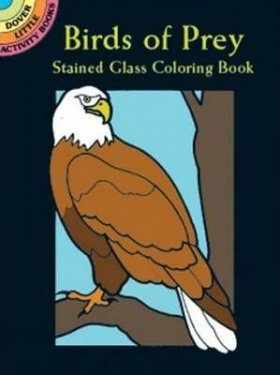 Birds of Prey Stained Glass Coloring Book