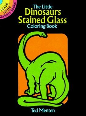 The Little Dinosaurs Stained Glass Colouring Book