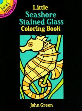 Little Seashore Stained Glass Colouring Book