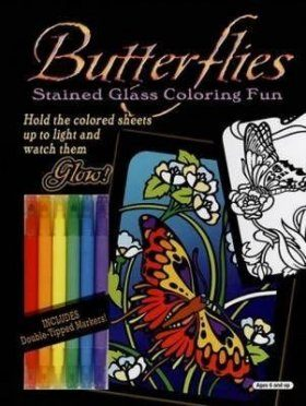 Butterflies Stained Glass Coloring Fun