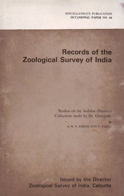 Studies on the Asilidae (Diptera) Collections Made by Dr. Ghorpade