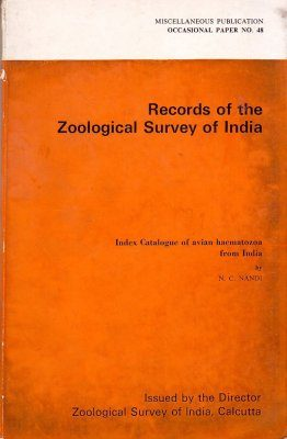 Index Catalogue of Avian Haematozoa from India