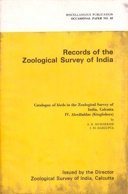 Catalogue of Birds in the Zoological Survey of India, Calcutta, IV: Alcedinidae (Kingfishers)