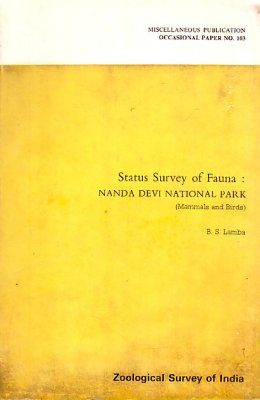 Status Survey of Fauna: Nanda Devi National Park