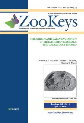 ZooKeys 465: The Origin and Early Evolution of Metatherian Mammals