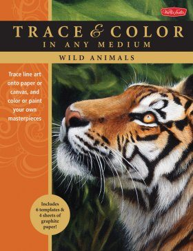 Wild Animals: Trace Line Art onto Paper or Canvas, and Color or Paint Your Own Masterpieces