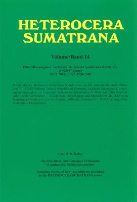 Heterocera Sumatrana, Volume 14 (Green Book): The Euteliidae, Stictopterinae of Sumatra (Lepidoptera, Noctuoidea Partim)