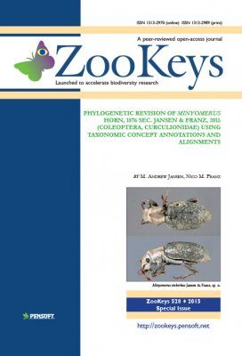 ZooKeys 528: Phylogenetic Revision of Minyomerus Horn, 1876 sec. Jansen & Franz, 2015 (Coleoptera, Curculionidae) Using Taxonomic Concept Annotations and Alignments
