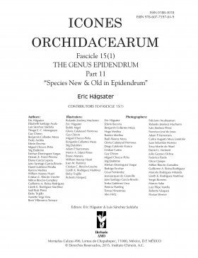 Icones Orchidacearum, Fascicle 15(1)