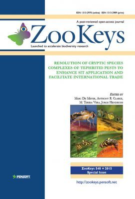 ZooKeys 540: Resolution of Cryptic Species Complexes of Tephritid Pests to Enhance SIT Application and Facilitate International Trade