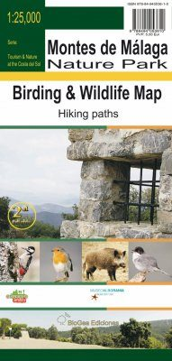 Birding and Wildlife Map of Montes de Málaga Nature Park / Mapa Ornitológico y Fauna del Parque Natural Montes de Málaga