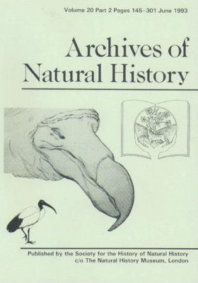 Archives of Natural History, Volume 20, Part 2