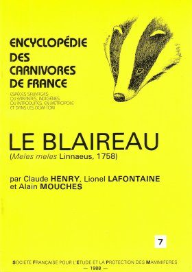 Encyclopédie des Carnivores de France, Part 7: Le Blaireau